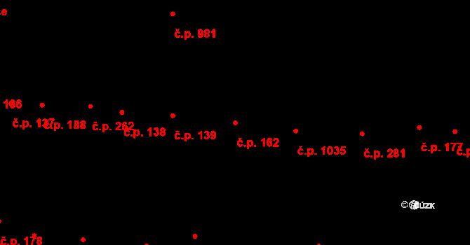 Újezd u Brna 162 na parcele st. 1730 v KÚ Újezd u Brna, Katastrální mapa