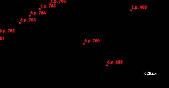 Újezd 750, Plzeň na parcele st. 1255/250 v KÚ Újezd, Katastrální mapa