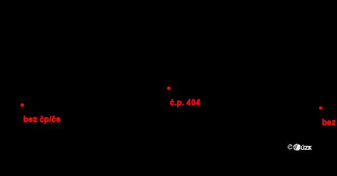 Polabiny 404, Pardubice na parcele st. 6939 v KÚ Pardubice, Katastrální mapa