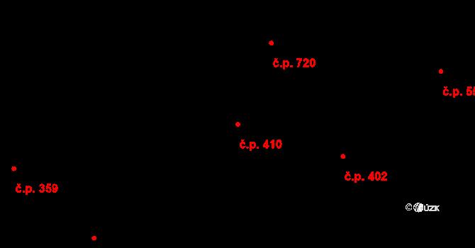 Hradec Králové 410 na parcele st. 481 v KÚ Hradec Králové, Katastrální mapa