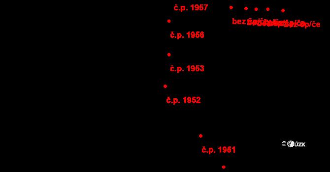 Prostějov 1952 na parcele st. 3578 v KÚ Prostějov, Katastrální mapa