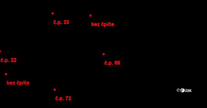 Výhledy 68, Hazlov na parcele st. 78 v KÚ Výhledy, Katastrální mapa