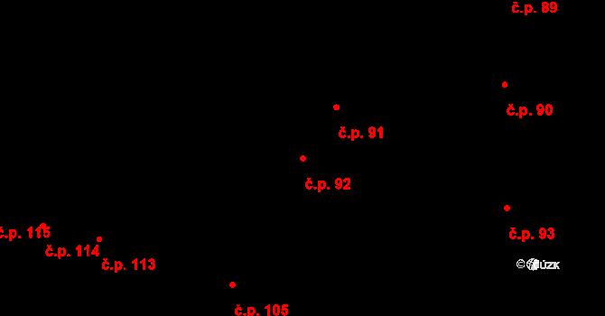 České Budějovice 1 92, České Budějovice na parcele st. 105/2 v KÚ České Budějovice 1, Katastrální mapa
