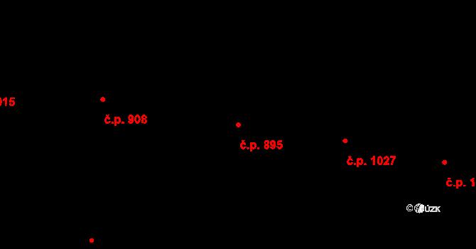 Černice 895, Plzeň na parcele st. 266/32 v KÚ Černice, Katastrální mapa
