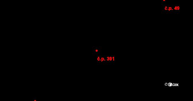 Plesná 391, Ostrava na parcele st. 659/3 v KÚ Stará Plesná, Katastrální mapa