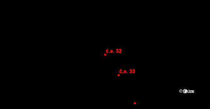 Děhylov 32 na parcele st. 680 v KÚ Děhylov, Katastrální mapa