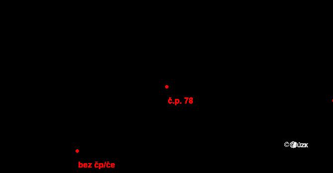 Vyskytná nad Jihlavou 78 na parcele st. 88 v KÚ Vyskytná nad Jihlavou, Katastrální mapa