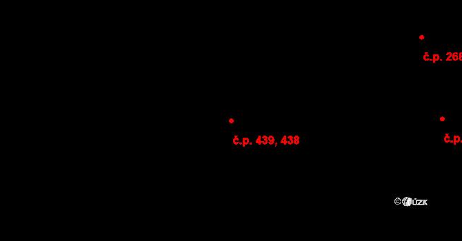 Veleslavín 438,439, Praha na parcele st. 473/362 v KÚ Veleslavín, Katastrální mapa