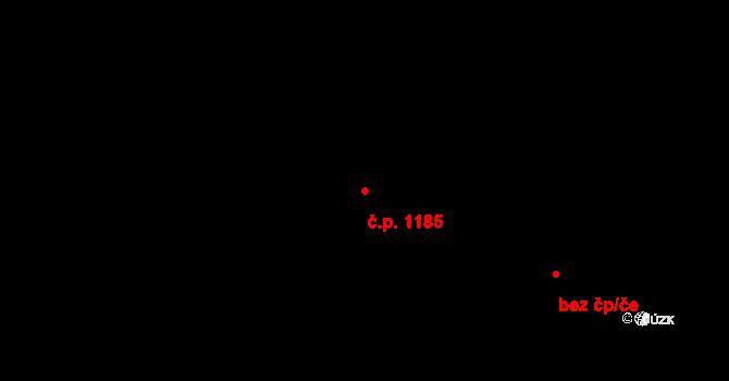 Kobylisy 1185, Praha na parcele st. 2364/134 v KÚ Kobylisy, Katastrální mapa