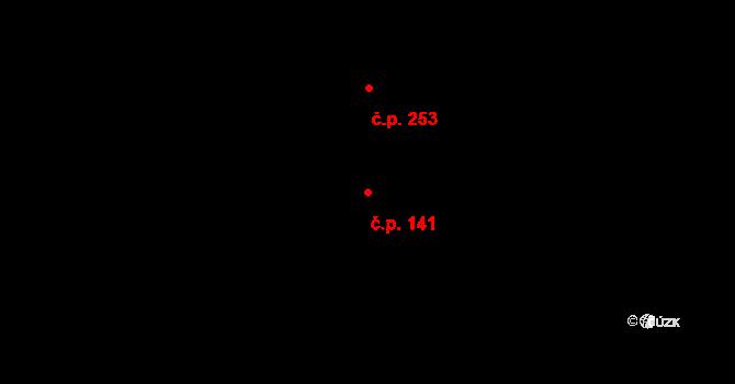 Děhylov 141 na parcele st. 272 v KÚ Děhylov, Katastrální mapa