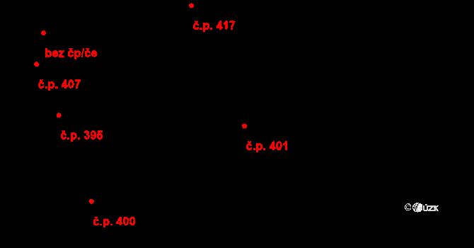 Týn 401, Třebíč na parcele st. 677 v KÚ Týn u Třebíče, Katastrální mapa