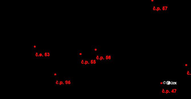 Hostovice 56, Pardubice na parcele st. 73 v KÚ Hostovice u Pardubic, Katastrální mapa
