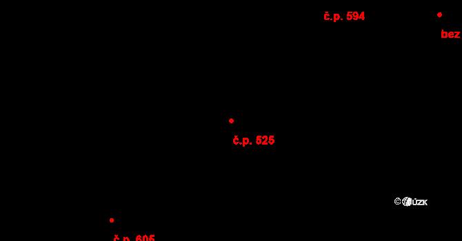 Malá Strana 525, Praha na parcele st. 143 v KÚ Malá Strana, Katastrální mapa