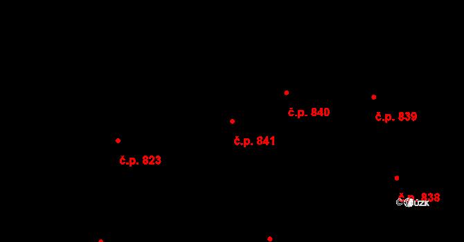 Vršovice 841, Praha na parcele st. 1936 v KÚ Vršovice, Katastrální mapa