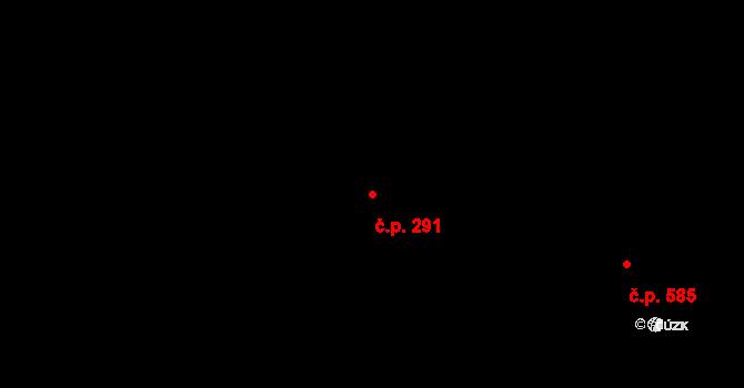 Žirovnice 291 na parcele st. 313 v KÚ Žirovnice, Katastrální mapa