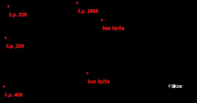Pardubice 40403092 na parcele st. 677/7 v KÚ Pardubice, Katastrální mapa