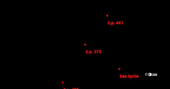 Holice 373 na parcele st. 1032 v KÚ Holice v Čechách, Katastrální mapa