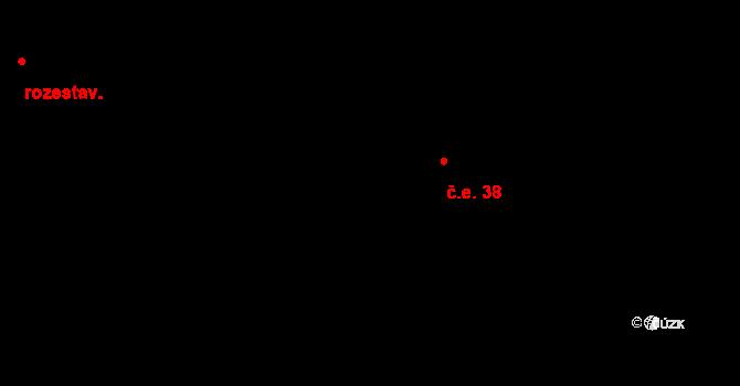 Podkopná Lhota 38 na parcele st. 72 v KÚ Podkopná Lhota, Katastrální mapa