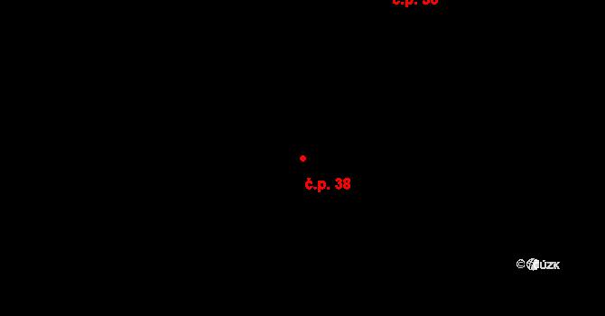 Lhota u Chroustovic 38, Chroustovice na parcele st. 70/2 v KÚ Lhota u Chroustovic, Katastrální mapa