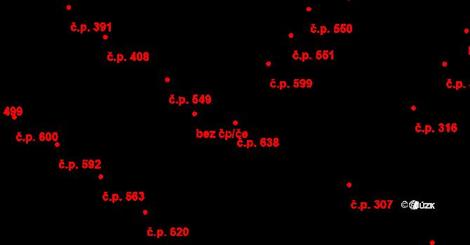 Lobzy 638, Plzeň na parcele st. 3469 v KÚ Plzeň, Katastrální mapa