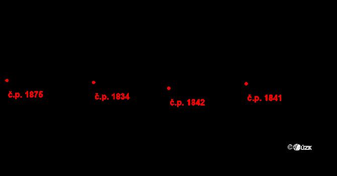 Bílé Předměstí 1842, Pardubice na parcele st. 10658 v KÚ Pardubice, Katastrální mapa