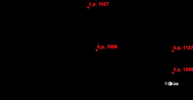 Nivnice 1056 na parcele st. 1981/71 v KÚ Nivnice, Katastrální mapa