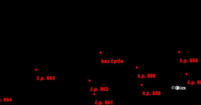 Kladno 44418094 na parcele st. 811 v KÚ Hnidousy, Katastrální mapa