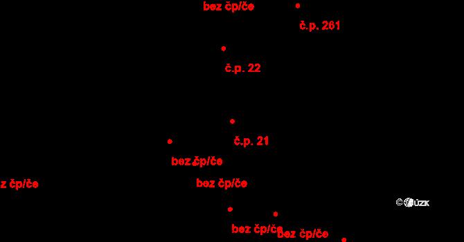 Lužná 21 na parcele st. 73 v KÚ Lužná u Vsetína, Katastrální mapa