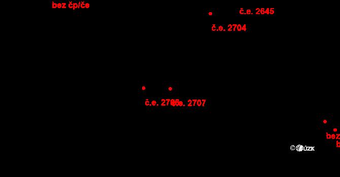 Severní Předměstí 2707, Plzeň na parcele st. 12075/31 v KÚ Plzeň, Katastrální mapa