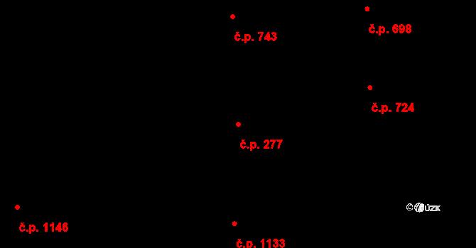 Stonava 277 na parcele st. 347 v KÚ Stonava, Katastrální mapa