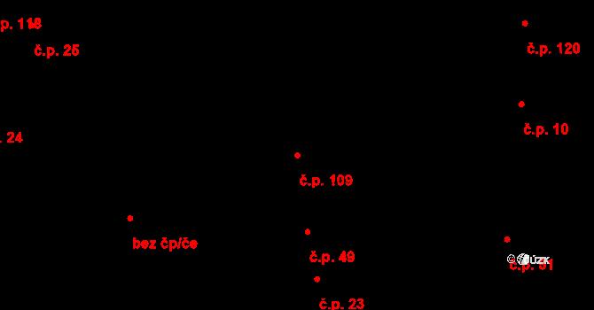 Čechy 109 na parcele st. 303 v KÚ Čechy, Katastrální mapa
