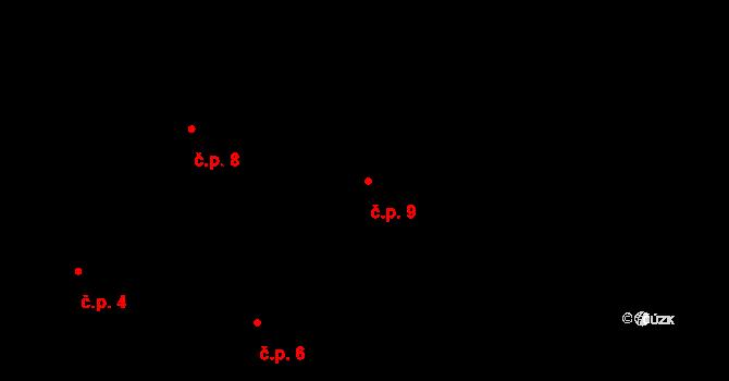 Horní Paseky 9, Aš na parcele st. 108 v KÚ Horní Paseky, Katastrální mapa