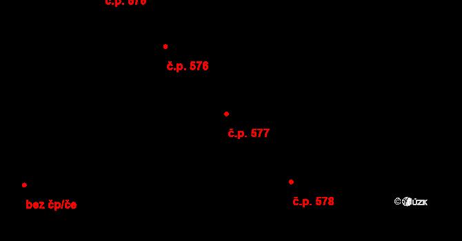 Mariánské Lázně 577 na parcele st. 794 v KÚ Mariánské Lázně, Katastrální mapa
