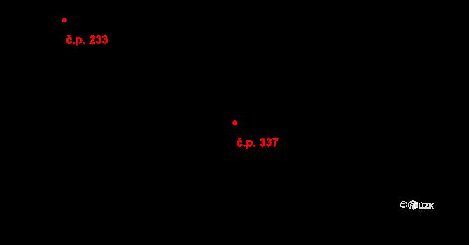 Nová Říše 337 na parcele st. 490 v KÚ Nová Říše, Katastrální mapa