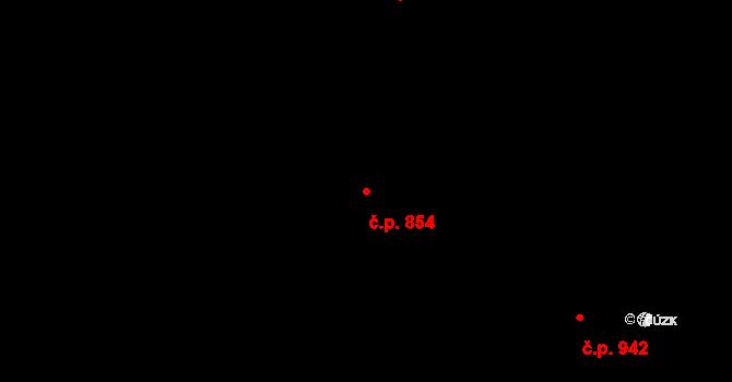 Stonava 854 na parcele st. 386 v KÚ Stonava, Katastrální mapa