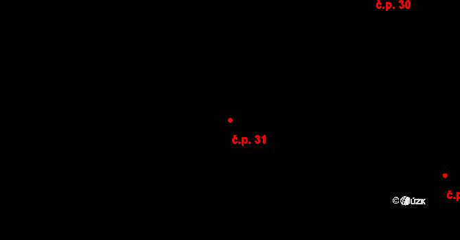 Bílá 31 na parcele st. 1370 v KÚ Bílá, Katastrální mapa
