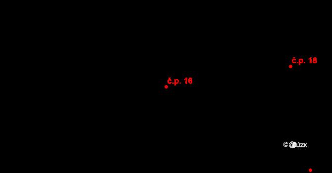 Sedlejov 16 na parcele st. 17 v KÚ Sedlejov, Katastrální mapa
