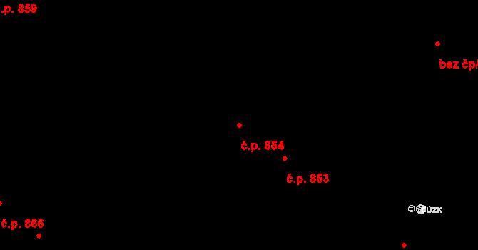 Švermov 854, Kladno na parcele st. 630 v KÚ Hnidousy, Katastrální mapa