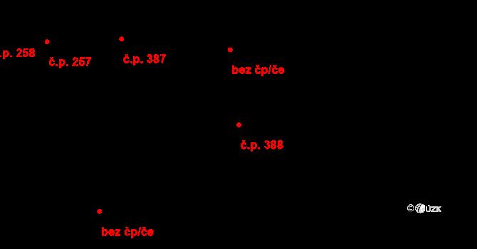 Trnitá 388, Brno na parcele st. 374 v KÚ Trnitá, Katastrální mapa