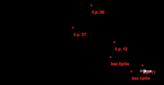 Kundratice 27, Žiželice na parcele st. 148/1 v KÚ Kundratice u Žiželic nad Cidlinou, Katastrální mapa
