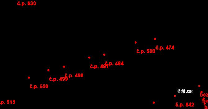 Ústí nad Orlicí 484 na parcele st. 561 v KÚ Ústí nad Orlicí, Katastrální mapa