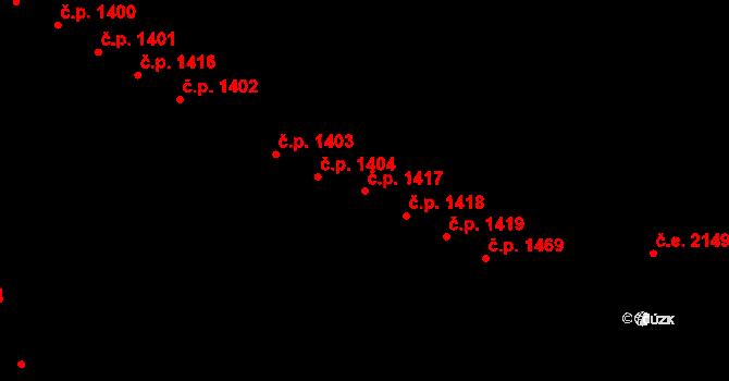 Bystrc 1417, Brno na parcele st. 1931/242 v KÚ Bystrc, Katastrální mapa