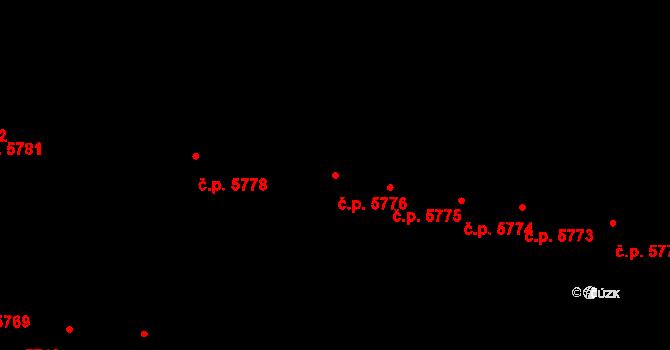 Jihlava 5776 na parcele st. 1074/78 v KÚ Jihlava, Katastrální mapa