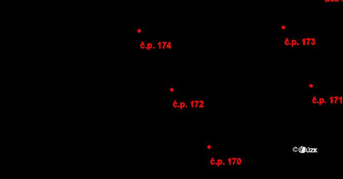 Nová Ves u Nového Města na Moravě 172 na parcele st. 1551/19 v KÚ Nová Ves u Nového Města na Moravě, Katastrální mapa