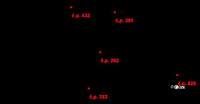 Trnitá 282, Brno na parcele st. 1011/1 v KÚ Trnitá, Katastrální mapa