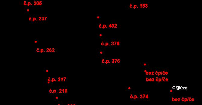 Holásky 376, Brno na parcele st. 215/3 v KÚ Holásky, Katastrální mapa