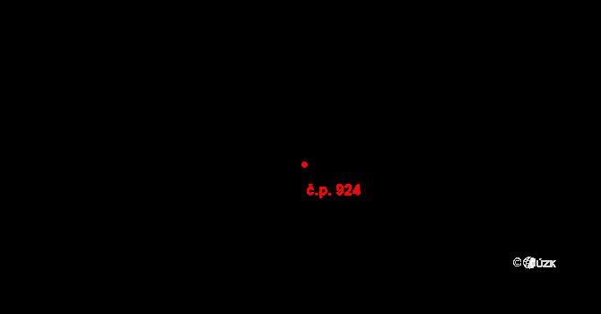 Vlašim 924 na parcele st. 977 v KÚ Vlašim, Katastrální mapa