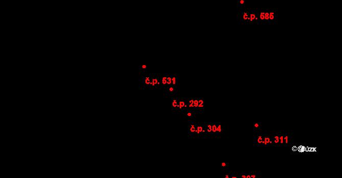 Žirovnice 292 na parcele st. 314 v KÚ Žirovnice, Katastrální mapa