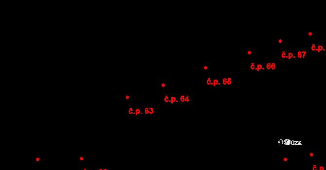 Mýto 64 na parcele st. 195 v KÚ Mýto v Čechách, Katastrální mapa