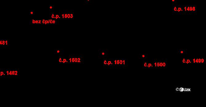 Nusle 1501, Praha na parcele st. 2330 v KÚ Nusle, Katastrální mapa